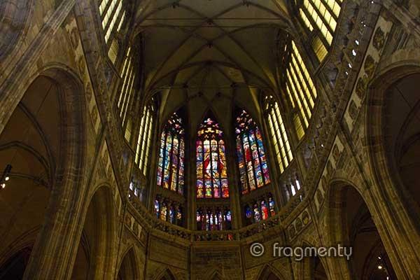 Vnitřek Katedrály sv. Víta, Václava a Vojtěcha na Pražském hradě