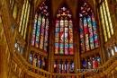Okna nad oltářem Katedrály sv. Víta Václava a Vojtěcha