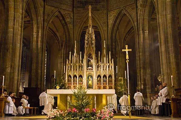 Mše svatá v katedrále sv. Víta, Václava a Vojtěcha